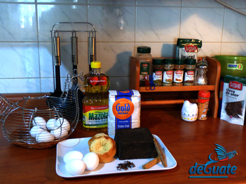 Ingredientes torrejas