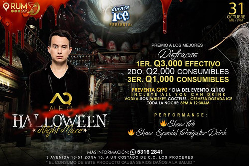 Halloween Party Rum Bar Guatemala
