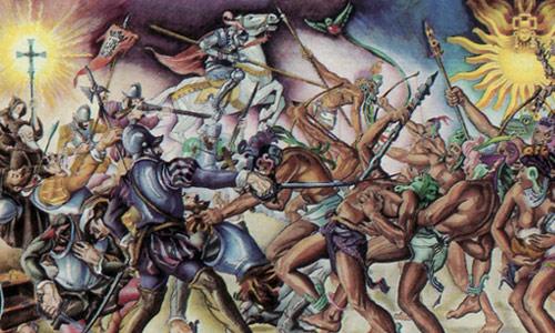 Tecun Uman batalla Pedro de Alvarado