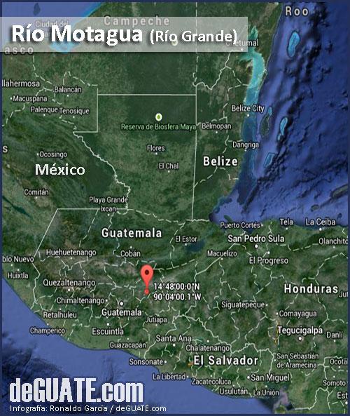 Mapa del río Motagua