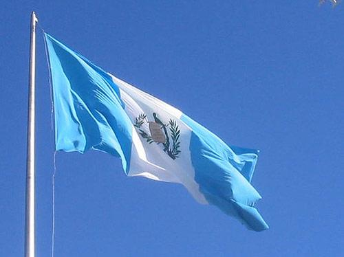 Bandera Nacional de la Republica de Guatemala