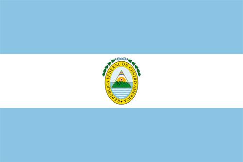 Bandera de la Republica Federal de Centro América