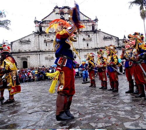 Danza de la conquista en Guatemala