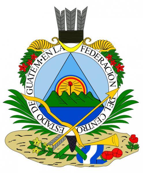 Escudo del Estado de Guatemala en America Central