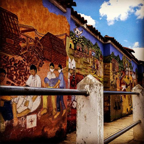 Muros del cementerio de San Juan Comalapa