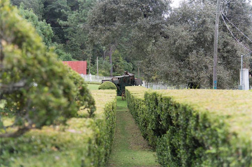 Pasillo dentro de terreno de Casa Xara, Chimaltenango