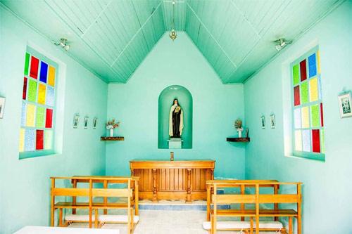 Capilla por dentro, Casa Xara, Chimaltenango