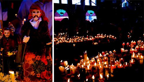 Culto a San Simón en San Andrés Itzapa, Guatemala