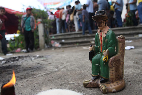Fiesta a San Simón en San Andrés Itzapa, Chimaltenango