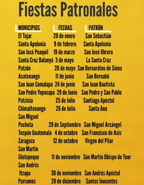 Fiestas patronales de Chimaltenango