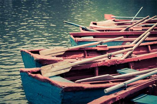Lanchas en Laguna de los cisnes, Chimaltenango