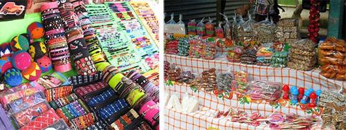 Venta de dulces típicos y souvenirs en Los Aposentos
