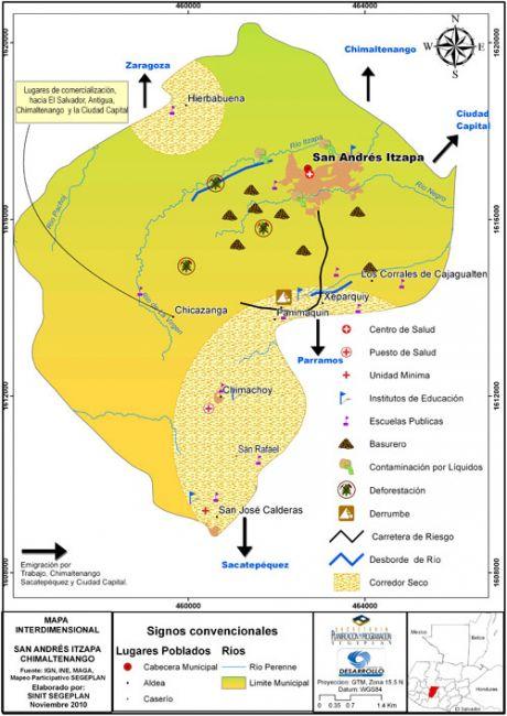 Mapa interdimensional de San Andrés Itzapa, Chimaltenango
