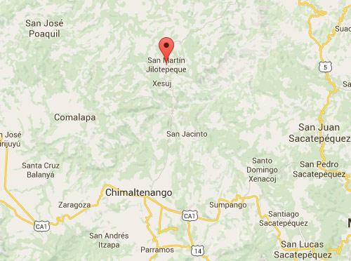 Mapa de ubicación de San Martin Jilotepeque, Chimaltenango