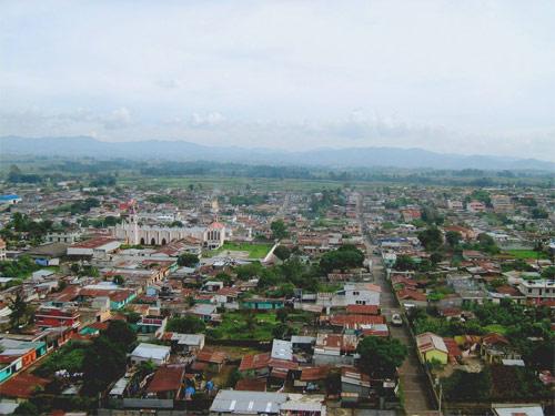 Vista panorámica de Patzicia, Chimaltenango, Guatemala