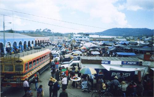 Plaza Central San Martín Jilotepeque, Guatemala
