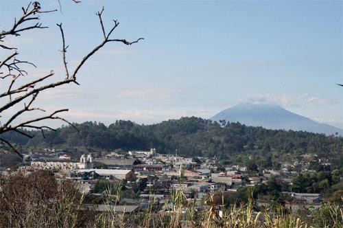 Vista panorámica de San Martín Jilotepeque, Chimaltenango, Guatemala.