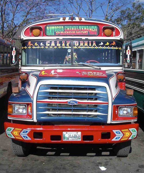 Transporte urbano hacia Parramos, Chimaltenango.