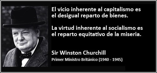 Ideologia capitalista segun Churchill