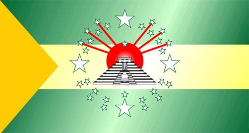 Bandera del departamento de Huehuetenango, Guatemala