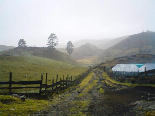 Terracería hacia Laguna Magdalena, Chiantla, Huehuetenango.