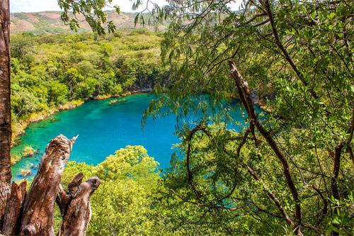 Los Cenotes de Candelaria, Nentón, Huehuetenango, Guatemala. Cenote pequeño