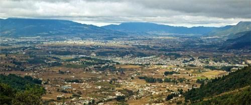 Vista aérea de Huehuetenango, Guatemala