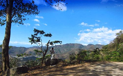 Vista desde montañas de Huehuetenango, Guatemala