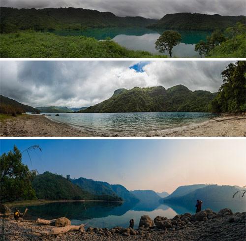 Imágenes panorámicas de la Laguna Brava, Nentón, Huehuetenango