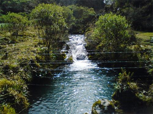 Río en Laguna Magdalena, Comunidad Magdalena, Chiantla, Huehuetenango, Guatemala.