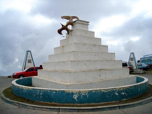 Monumento central en Mirador Juan Diéguez Olaverri, Huehuetenango, Guatemala