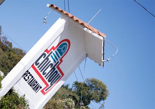 Señalización de Restaurante Chichoy Agua Escondida, Tecpán, Chimaltenango