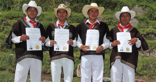 Traje típico masculino de San Mateo Ixtatán, Huehuetenango, Guatemala