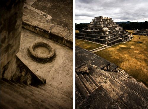 Distintos ángulos del Parque Arqueológico Zaculeu, municipio de Huehuetenango, Huehuetenango