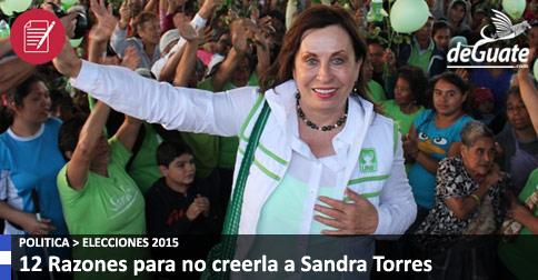 Razones para no creerle a Sandra Torres