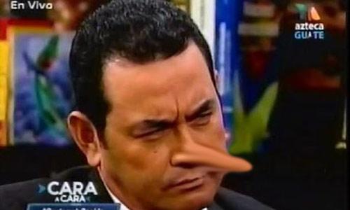 Jimmy Morales mentiroso