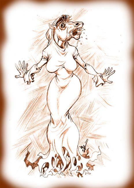 La Siguanaba cara de Caballo o Yegua