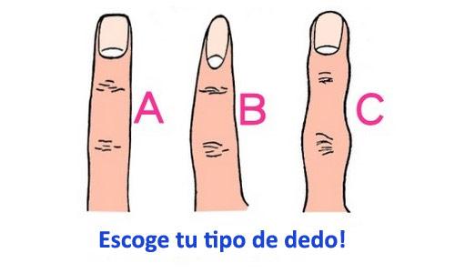 Tu personalidad segun tus dedos