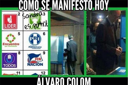 Meme Sandra Alvaro Colom