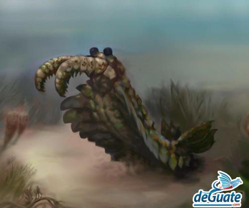 camaron calamar prehistorico