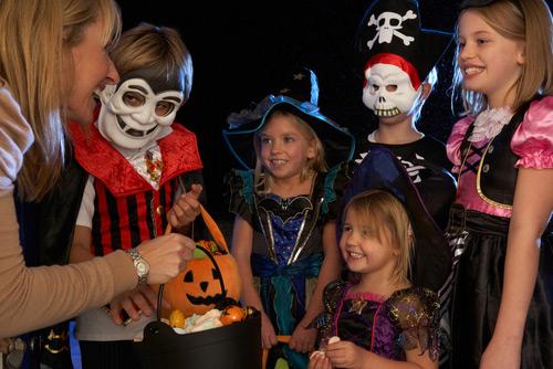 Niños dulces disfraces Halloween Guatemala