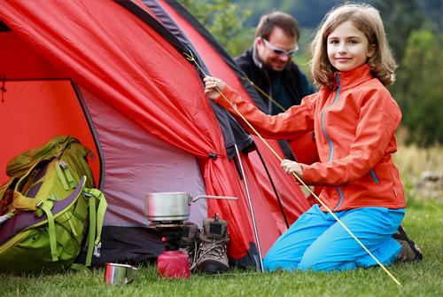 Tradiciones familiares: acampar