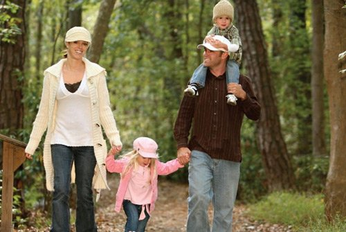 Tradiciones familiares: pasear