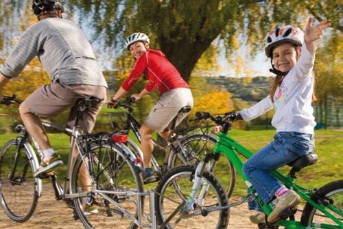 Tradicion familiar: montar bicicleta