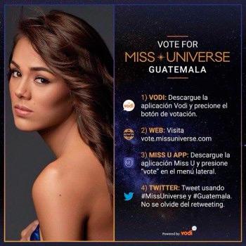 Miss Guatemala necesita tu voto para clasificar a la final de Miss Universo 2017.