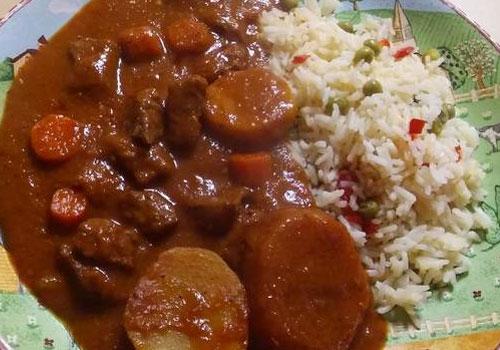 Receta carne guisada guatemalteca