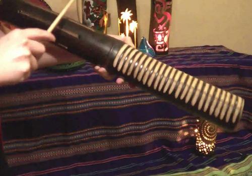 Raspador - Instrumento musical indigena guatemalteco