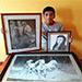 Joven de Jalapa sorprende con sus increíbles dibujos elaborados con lapicero.