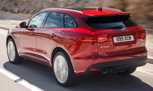 Jaguar F-Pace, parte trasera