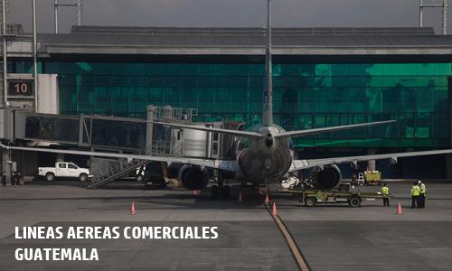 Lineas aereas comerciales Guatemala
